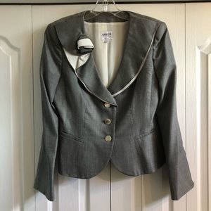 Armani jacket with flower detail on lapel